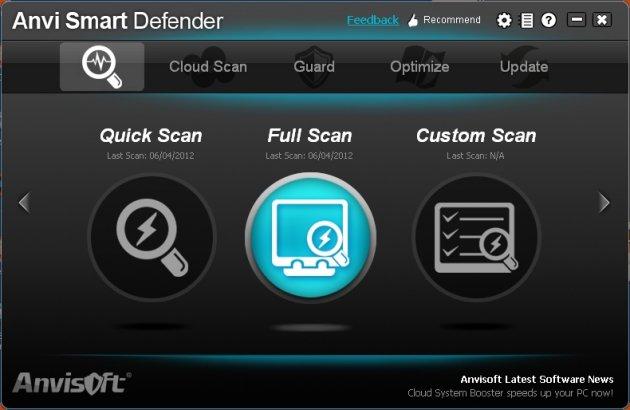 Antispyware e Antimalware gratis - Anvi Smart Defender - miglior antispyware free da scaricare gratis