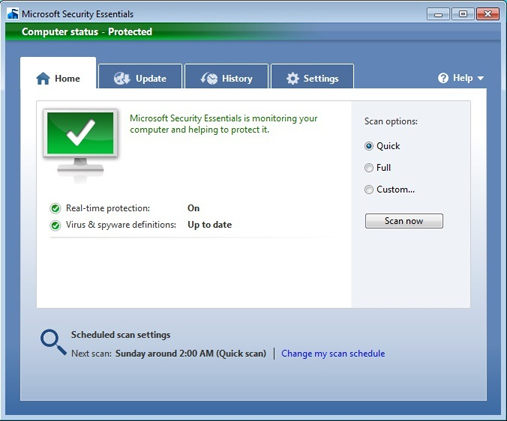 Antivirus Gratis - Microsoft Security Essentials - Scaricare Download programma antivirus free 2013