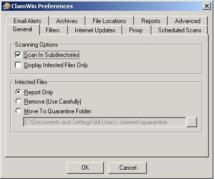 ClamWin antivirus free - download antivirus gratis per Windows 2013