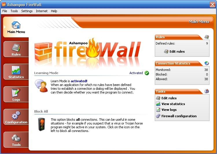 Firewall potente ed efficace gratis per Windows - Ashampoo Firewall free