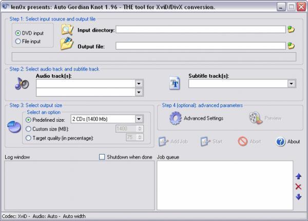 AutoGK - Programmi per convertire da DVD a Divx - Miglior programma di conversione DVD in Divx o Xvid