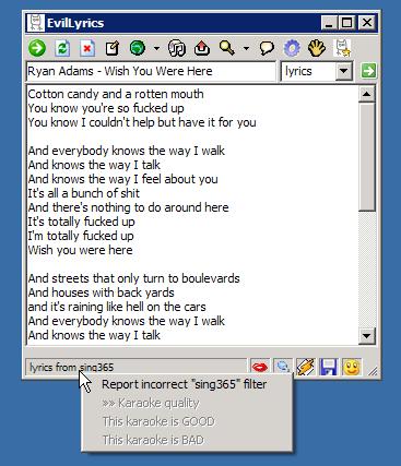 Download Programma per trovare e visualizzare i testi delle canzoni - Evil Lyrics