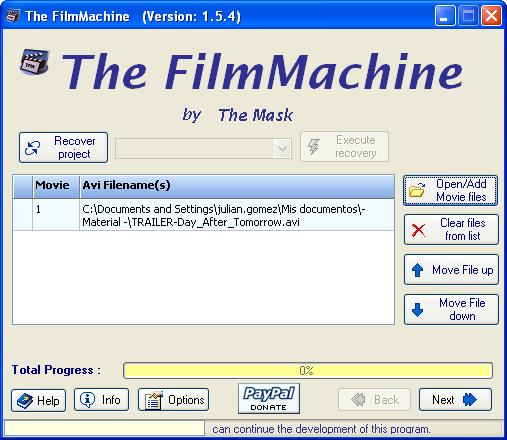 The FilmMachine - Miglior programma per convertire Divx in DVD