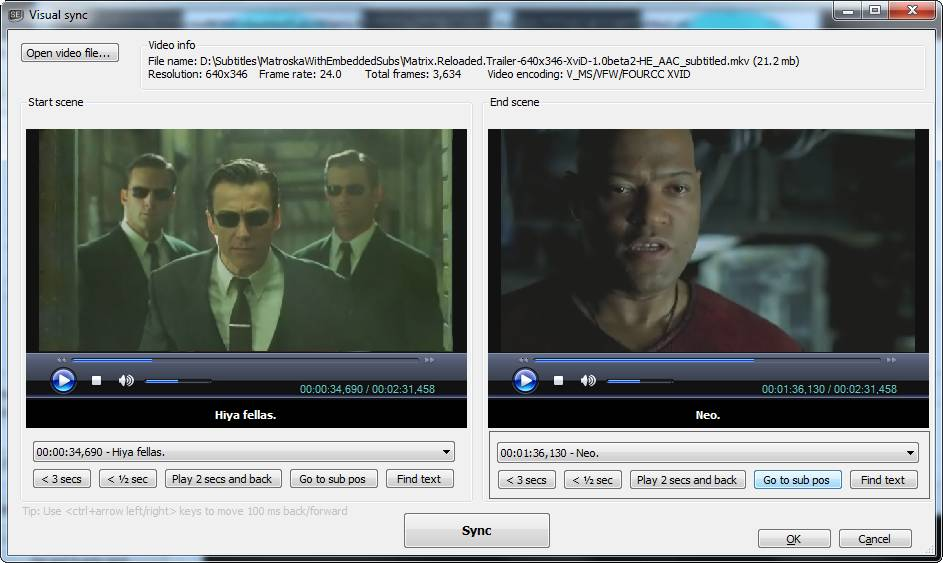 Subtitle Edit - programma gratis per estrarre modificare e sincronizzare sottotitoli