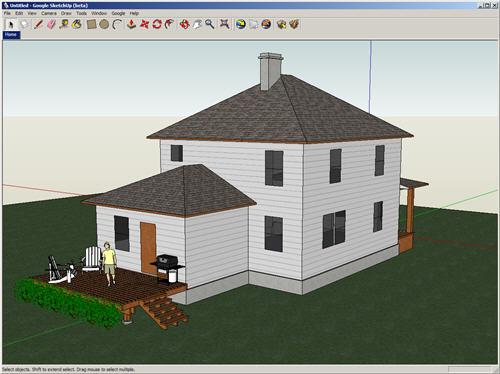 Google Sketchup - programma gratis per progettare e disegnare in 3D case interni stanze
