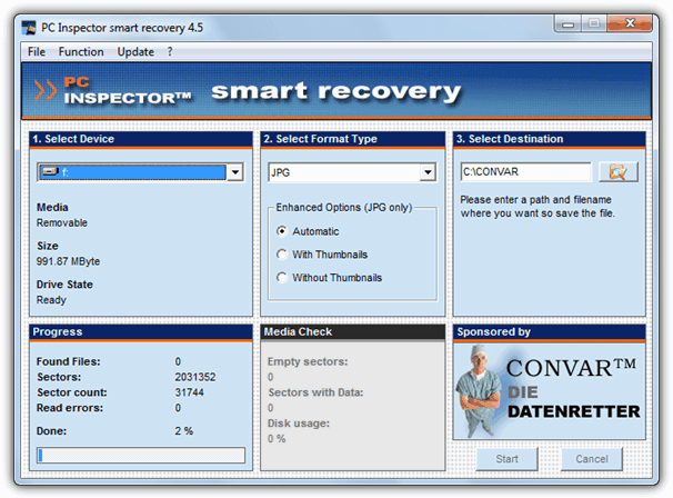 Pc inspector Smart Recovery - Download miglior programma gratis per recupeare foto cancellate da memory card e flash drive